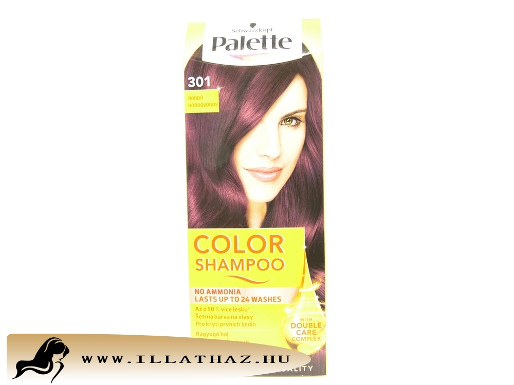 Palette color shampoo 301 bordóvörös